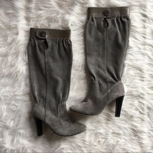 Michael Kors suede knee high boot slouchy 6